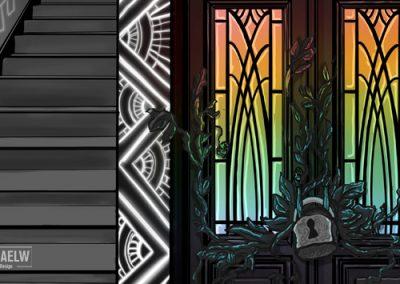 RachaelW-Day31-SciFiCorridor-LockedDoor